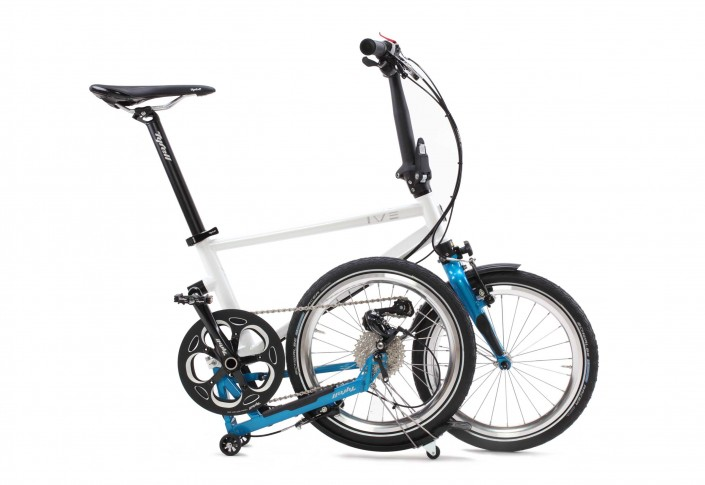 Tyrell Bike IVE halb gefaltet